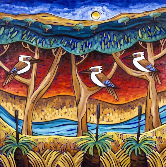 kookaburra-sits