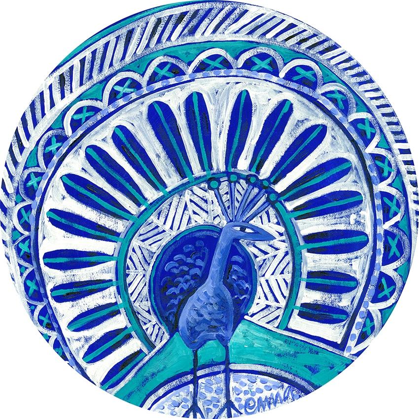 blue peacock e