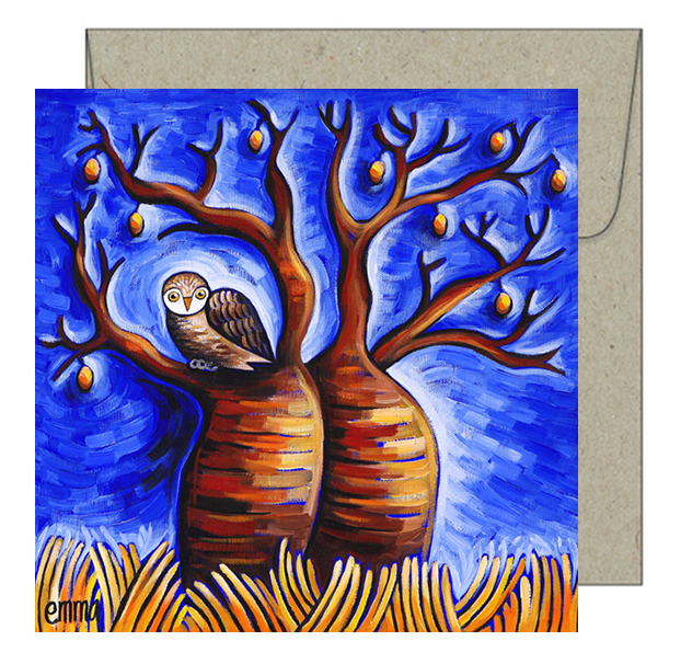 owl in the boab card