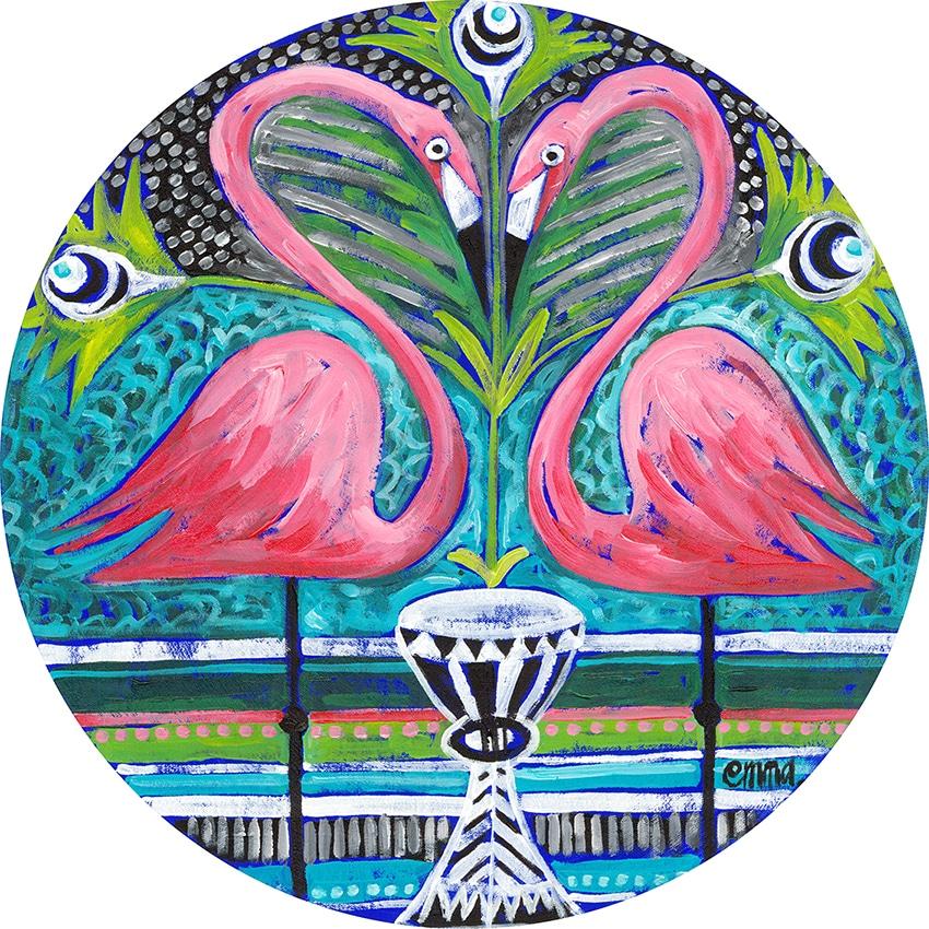 pink flamingo e