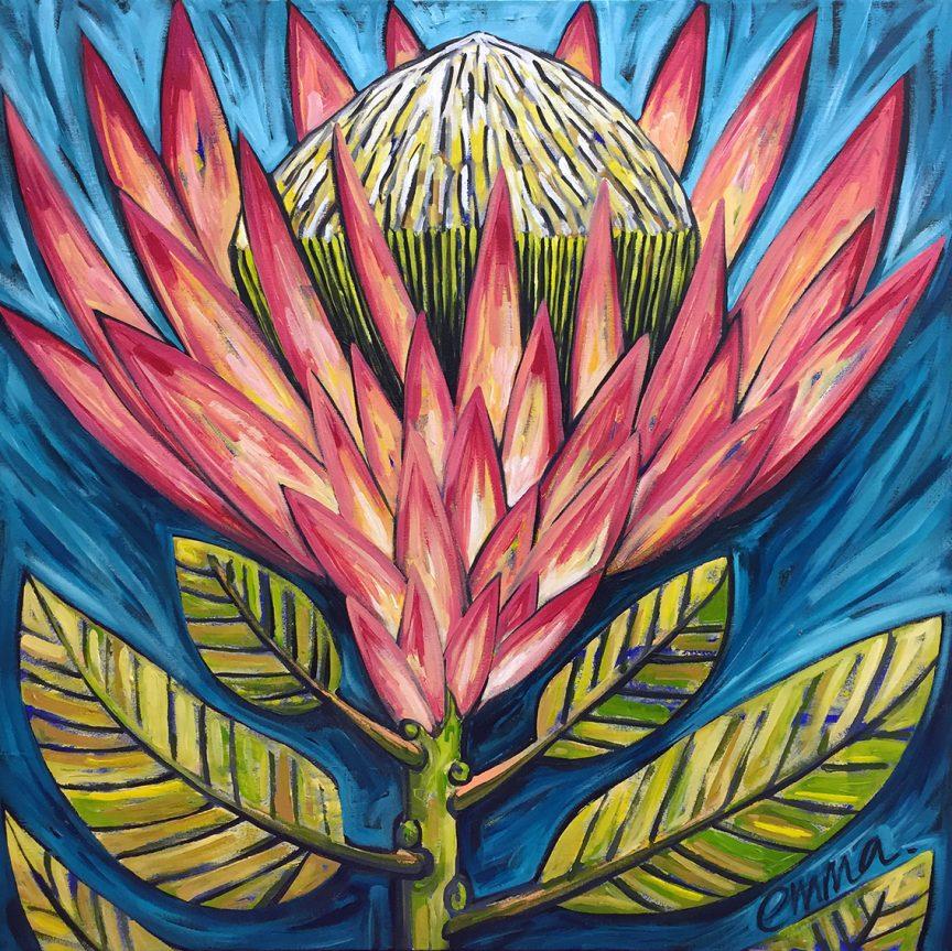 pink protea e